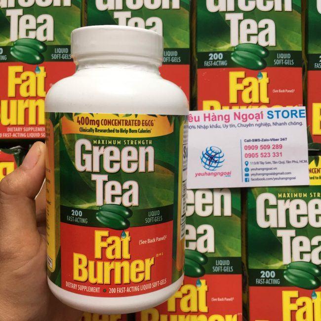 Hình Thật Thành Phần Viên Uống Hỗ Trợ Giảm Cân Green Tea Mỹ (2)