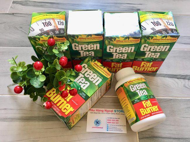 Hình Thật Thành Phần Viên Uống Hỗ Trợ Giảm Cân Green Tea Mỹ.
