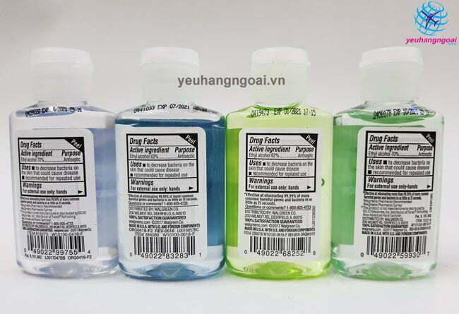 Mã Vạch Va Thành Phần Hand Sanitizer 59ml Của Mỹ.