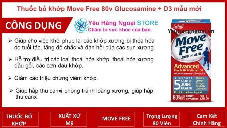 Move Free 80v Glucosamine Chondroitin Msm + D3