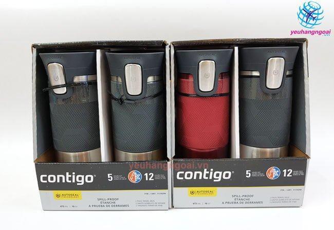 Bình Giữ Nhiệt Nóng Lạnh Contigo Autoseal 473ml Mỹ.