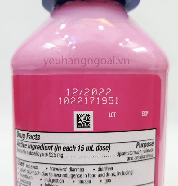 Hình Thật Hạn Sử Dụng Pepto Bismol Ultra 354ml.