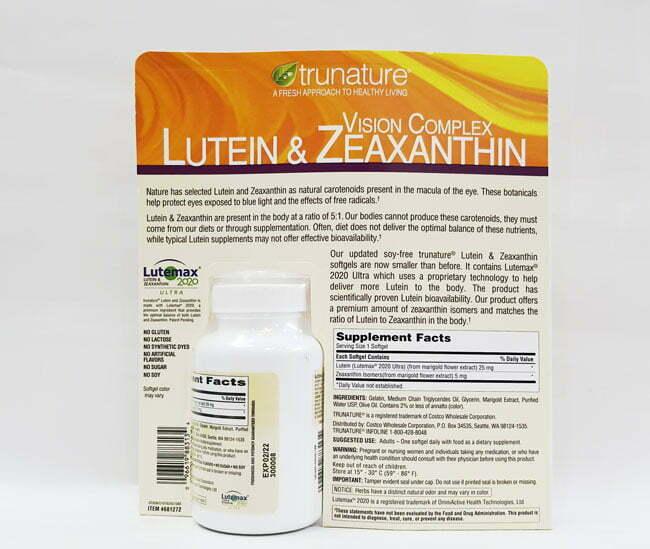 Hình Thành Phần Trunature Vision Complex Lutein & Zeaxanthin 140 Viên