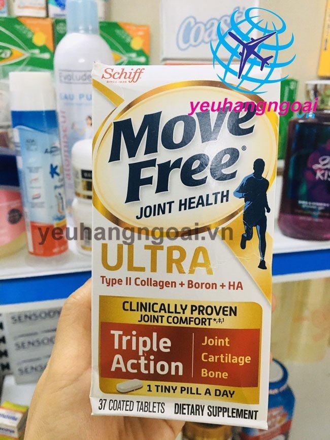 Hình Thật Viên Uống Giảm Các Cơn Đau Siêu Mạnh Schiff Move Free Ultra 37 Viên.