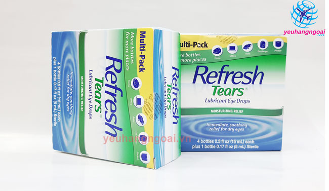 Hình Thật Nhỏ Mắt Refresh Tears Lubricant Eye Drops