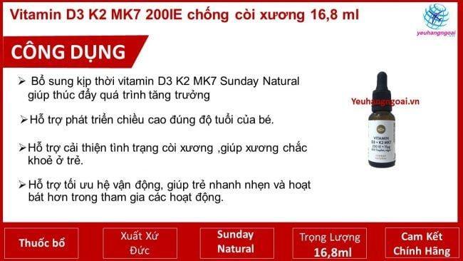 Công Dụng Vitamin D3 K7