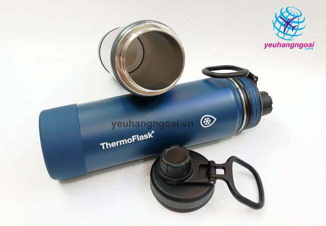 Hình Thật Bên Trong Chai Giữ Nhiệt Nóng Lạnh Thermoflask 710ML Usa.