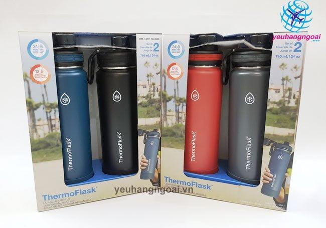 Hình Thật Bình Giữ Nhiệt Nóng Lạnh Thermoflask 710ML Usa.