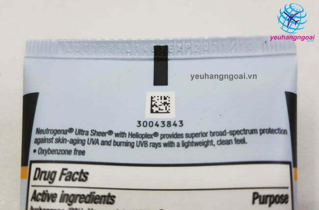 Hạn Sử Dụng Kem Chống Nắng Neutrogena Ultra Sheer Dry Touch