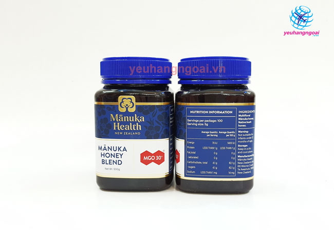 Mặt Trước Sau Mật Ong Manuka Mgo 30+ Manuka Health Honey 500g New Zealand