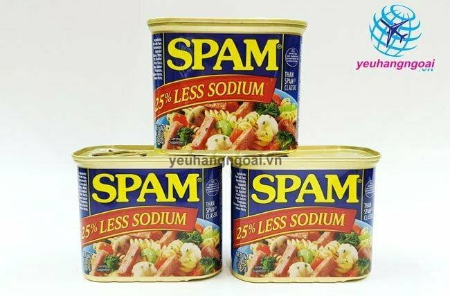 Hình Thật Thịt Hộp Spam Của Mỹ 340g Hương Vị Thơm Ngon, An Toàn, Tiện Lợi .