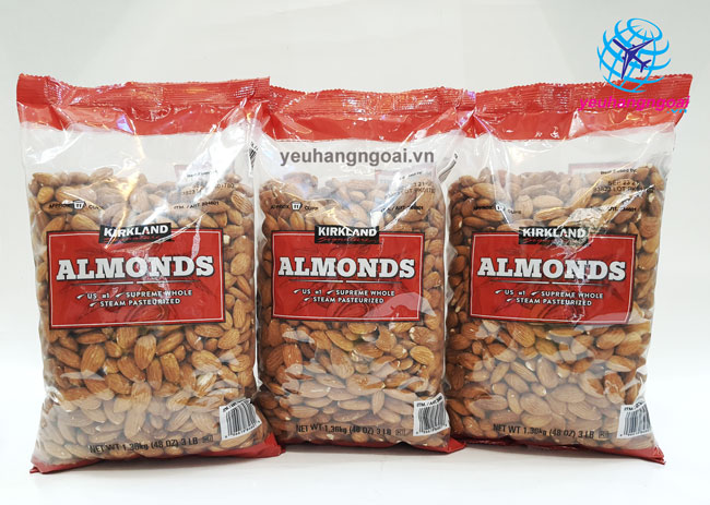 Hạt Hạnh Nhân Không Muối Kirkland Signature Almonds