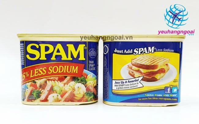 Mặt Trước Sau Thịt Hộp Spam Của Mỹ 340g Hương Vị Thơm Ngon, An Toàn, Tiện Lợi .
