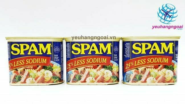 Thịt Hộp Spam Của Mỹ 340g Hương Vị Thơm Ngon, An Toàn, Tiện Lợi .