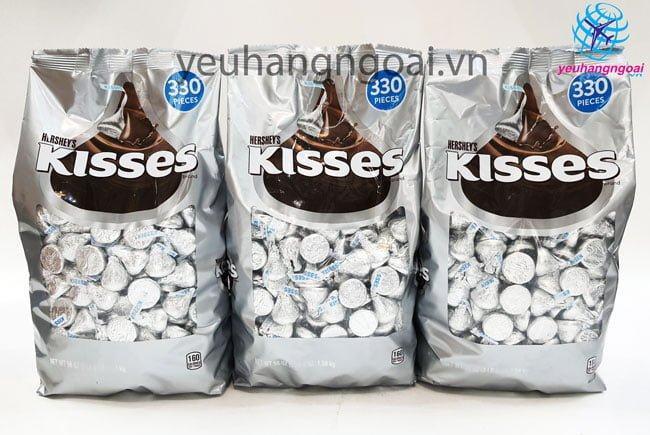 Kẹo Socola Hershey's Kisses Milk Chocolate 330 Pieces