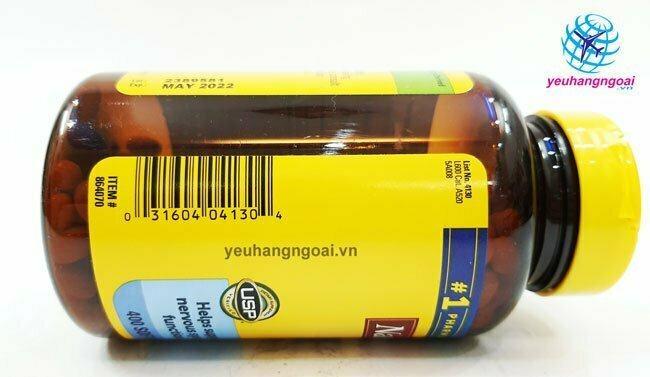 Mã Vạch Thành Phần ViÊn UỐng BỔ MÁu BỔ Sung Vitamin B12 Nature Made 1000mcg