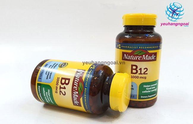 ViÊn UỐng BỔ MÁu BỔ Sung Vitamin B12 Nature Made 1000mcg