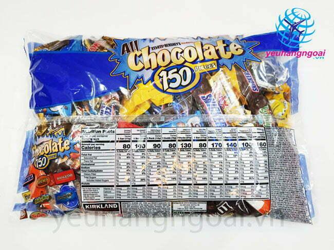 Mặt Sau Kẹo Socola Kirkland Tổng Hợp 150 Pieces 2.55kg