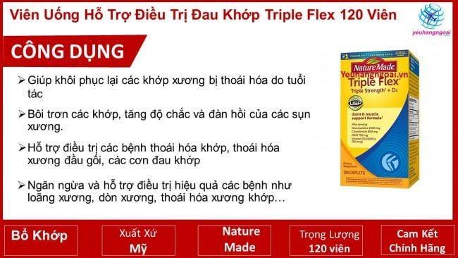 Viên Uống Triple Flex 120 Viên.