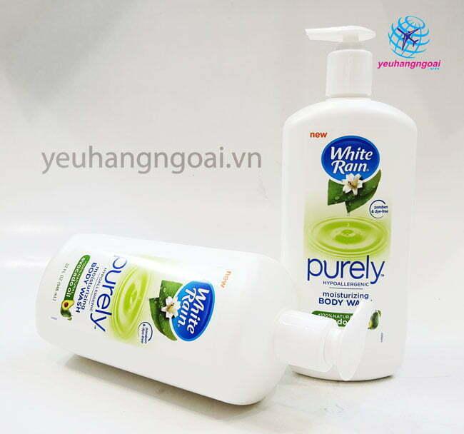 Hình Thật Sữa Tắm White Rain Purely Avocado Oil 946ml Hàngmỹ