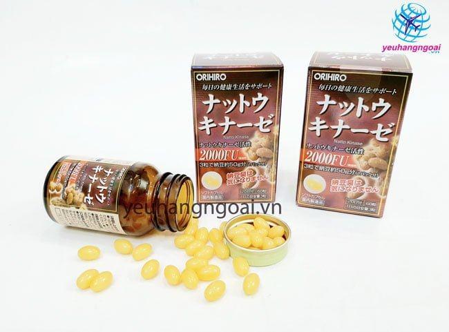 Hình Thật Viên Thuốc Chống đột Quỵ Nhật Bản Orihiro Nattokinase 2000fu