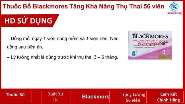 Hd Sử Dụng Thuốc Blackmors Tăng Khả Năng Thụ Thai