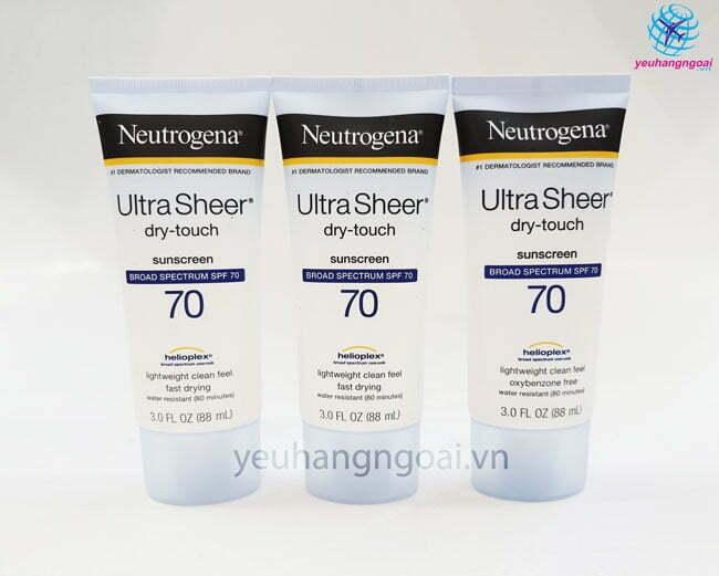 Hình Thật Kem Chống Nắng Neutrogena Ultra Sheer Dry Touch Spf70 88ml .