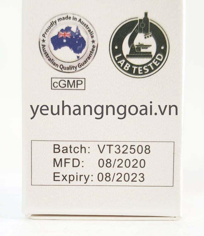 Hình Thật Hạn Sử Dụng Chai Xịt Giảm Đau Họng Keo Ong Vitatree 25ml Của Úc.