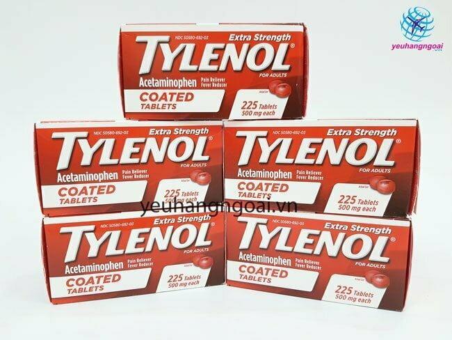 Hình Thật Tylenol 500mg 225 Viên Coated