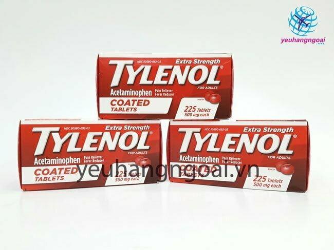 Hình Thật Mặt Trước Tylenol 500mg 225 Viên Coated