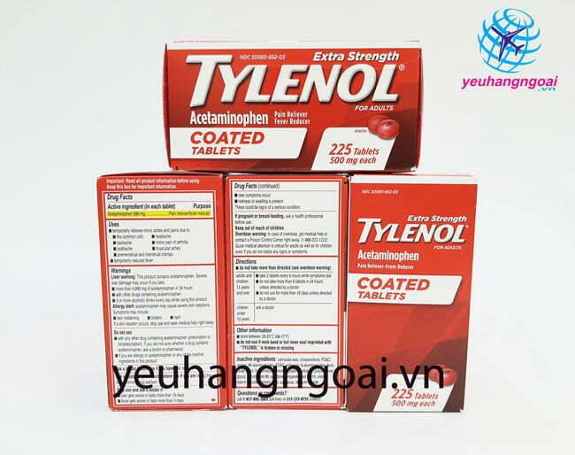 Hình Thật Mặt Trước Sautylenol 500mg 225 Viên Coated