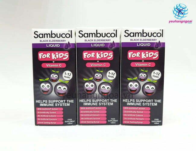 Hình Thật Siro Sambucol Vitamin C Tăng đề Kháng Cho Bé