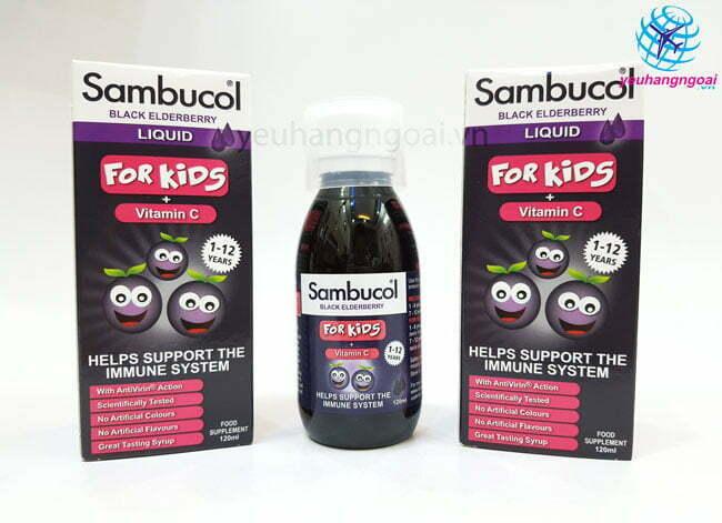 Hình Thật Mặt Trước Siro Sambucol Vitamin C Tăng đề Kháng Cho Bé