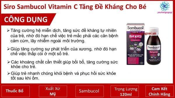 Siro Sambucol Vitamin