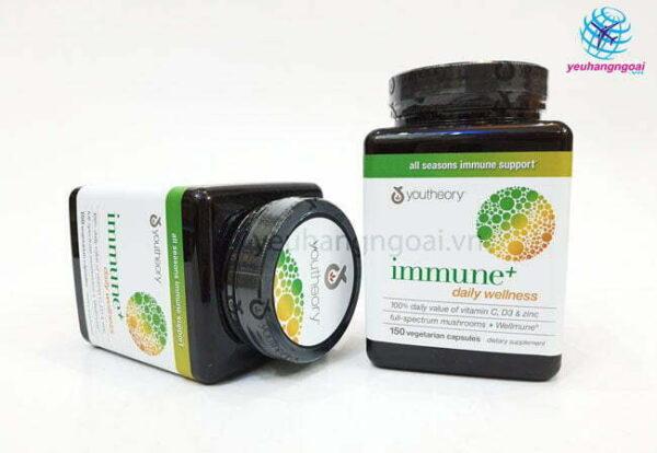 Hình Thật Mặt Trước Viên Uống Tăng Cường Hệ Miễn Dịch Youtheory Immune+ Daily Wellness
