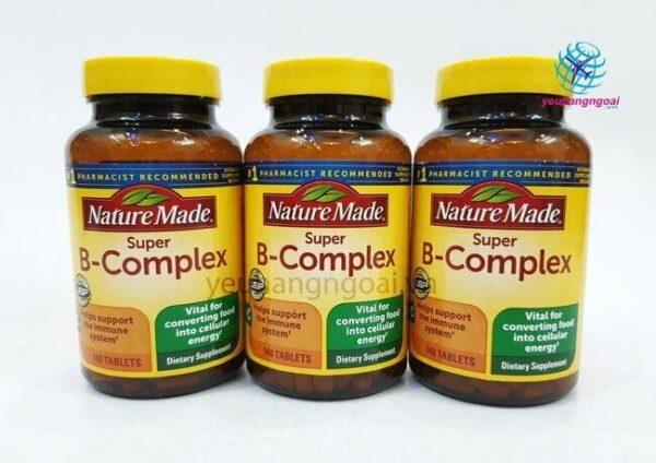 Hình Thật Viên Uống Bổ Sung Vitamin Super B Complex Nature Made Mỹ 140 Viên