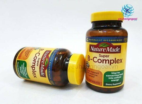 Hình Thật Mặt Trước Viên Uống Bổ Sung Vitamin Super B Complex Nature Made Mỹ 140 Viên