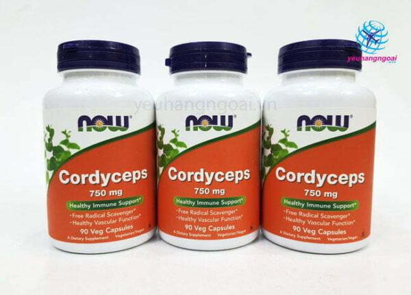 Hình Thật Viên Uống Đông Trùng Hạ Thảo Cordyceps Now 90 Viên